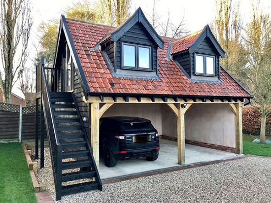 An Image Showing Exterior Modern Beautiful House With Car Port .